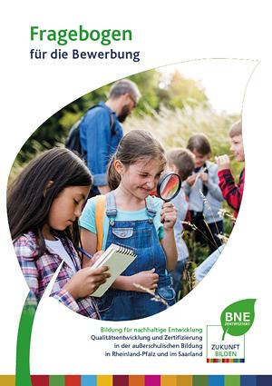 Titelseite Fragebogen für die Bewerbung - BNE Rheinland-Pfalz und Saarland