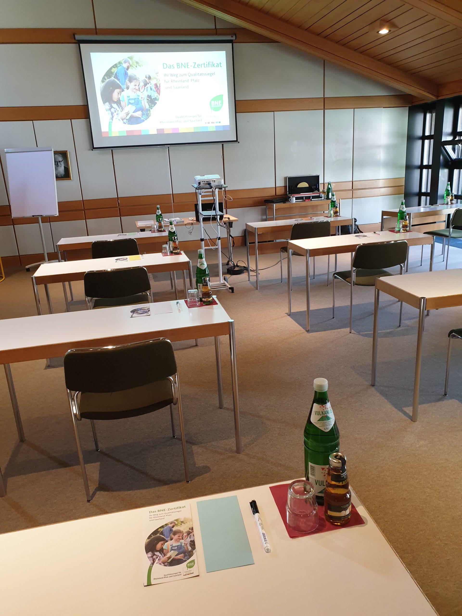 Seminarraum Bildungsstätte Marienland, Vallendar, August 2020